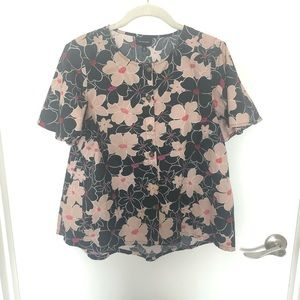 Who what wear target cap sleeve button down blouse